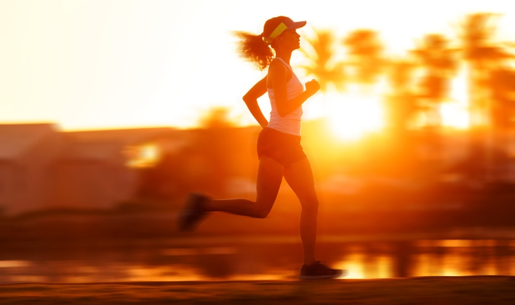healthy runner training motion blur