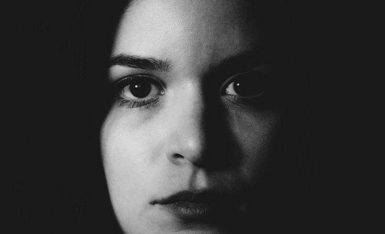 Close up female portrait