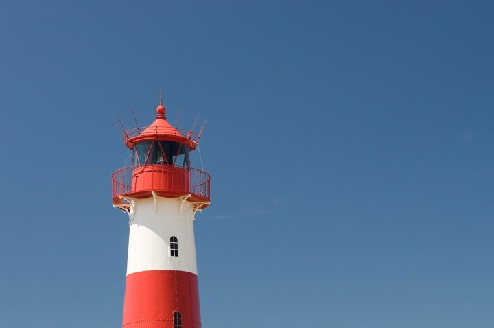 Small lighthouse on the island sylt, germany