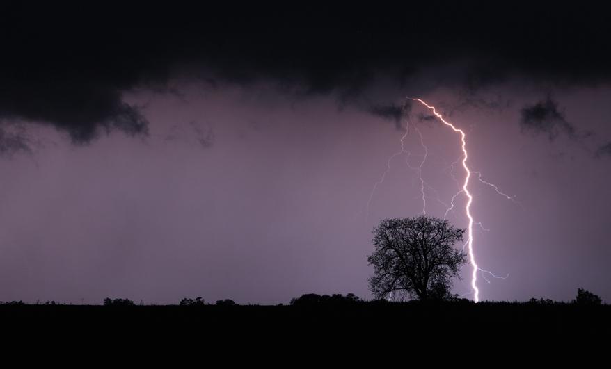Lightning bolt and storm