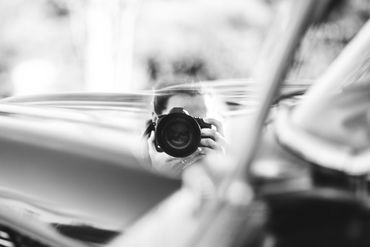 Auto portrait en voiture