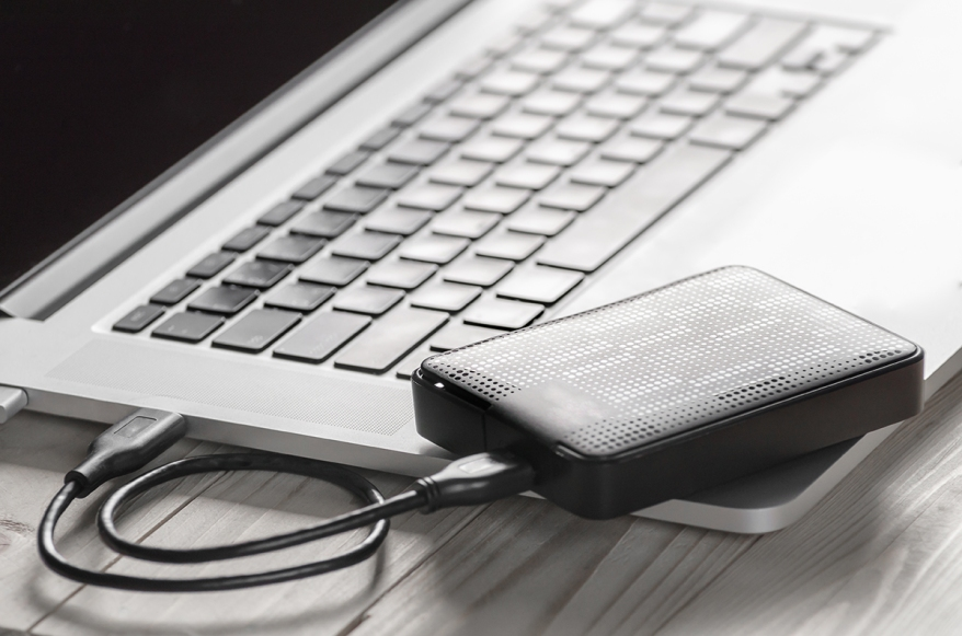 External hard disk and laptop computer