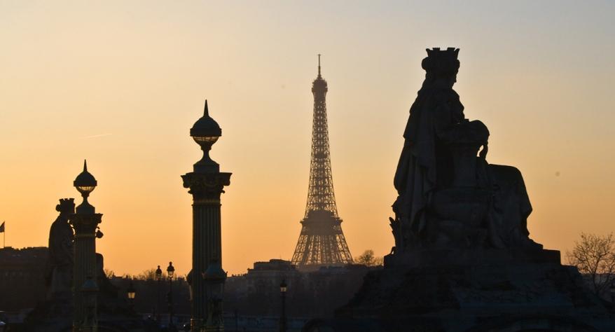 Paris (75) - Vue depuis la place de la concorde