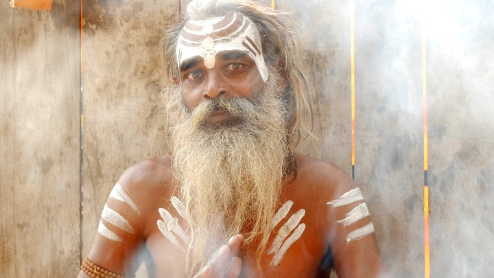 Sadhu man in Varanasi, India